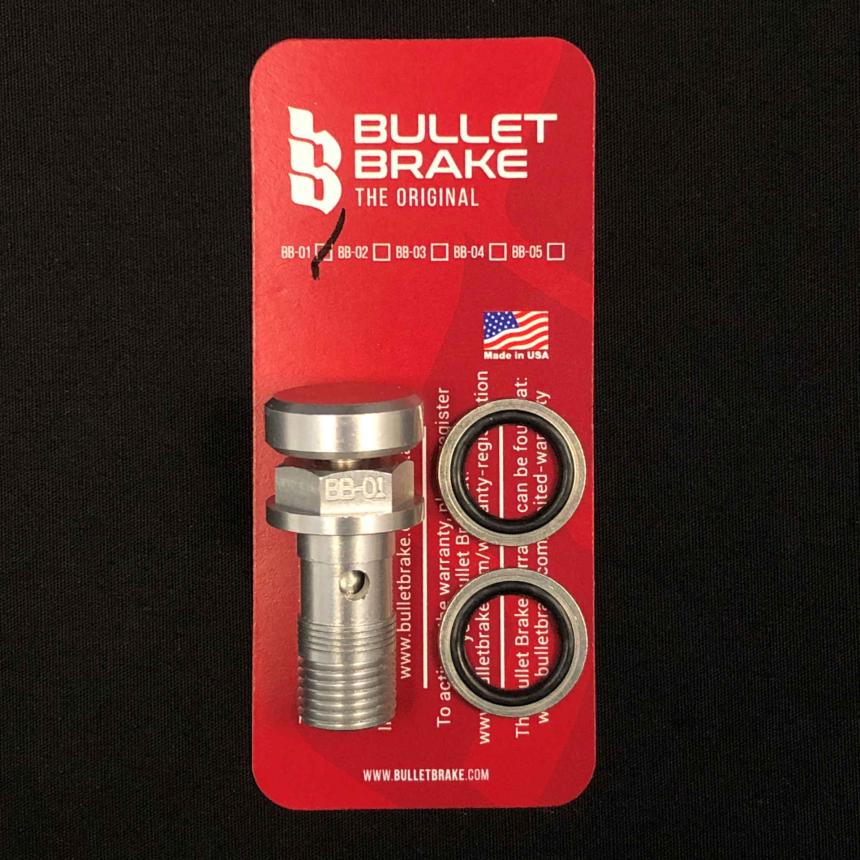 BulletBrake - silber, Feingewinde (10 x 1 mm)