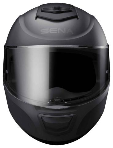 MOMENTUM - Smart Motorrad-Integralhelm (ECE) - schwarz matt (M)