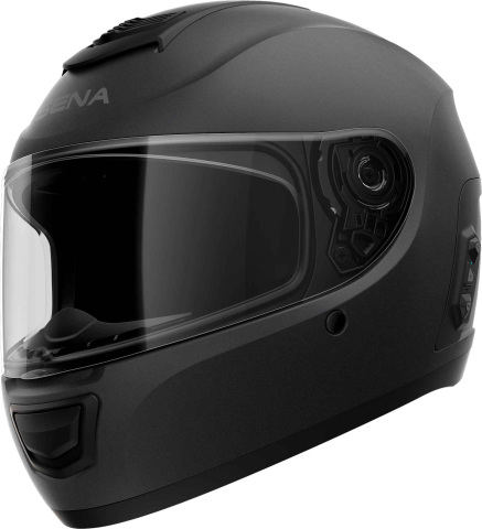 MOMENTUM EVO - Smart Motorrad-Integralhelm (ECE) - schwarz matt (XL)