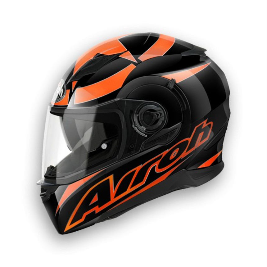 Airoh - MOVEMENT - Shot - Black Orange gloss (L)