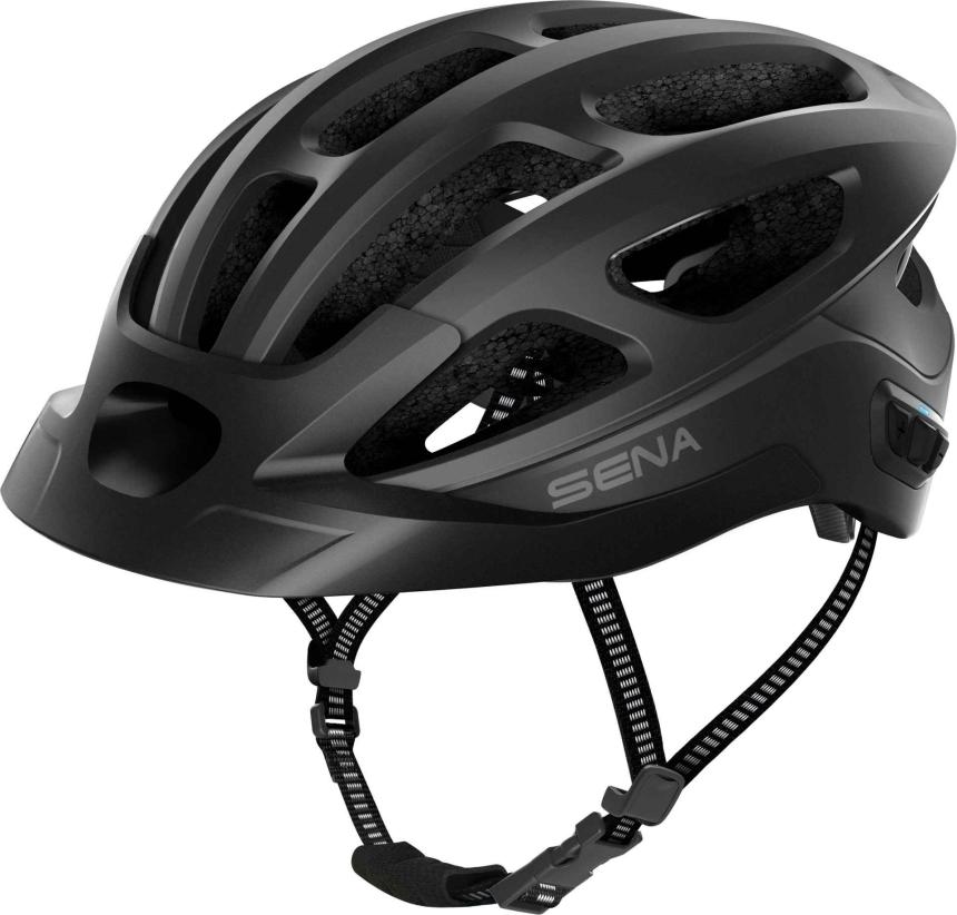 R1 EVO Smart Cycling Helm - Matt Black (L)