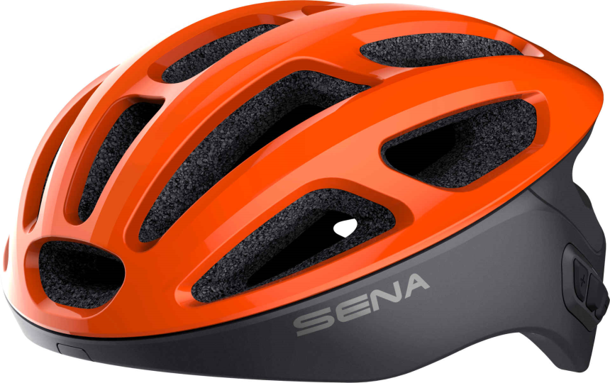 R1 Smart Cycling Helm - Electric Tangerine (S)