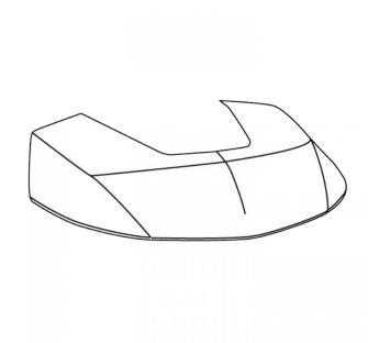Topcase-Farbplatte MAGNOLIA WEISS