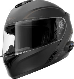 OUTRUSH R - Smart Motorrad-Klapphelm (ECE) - schwarz matt (M)