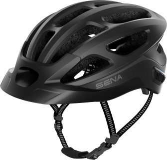 R1 EVO Smart Cycling Helm - Matt Black (L)