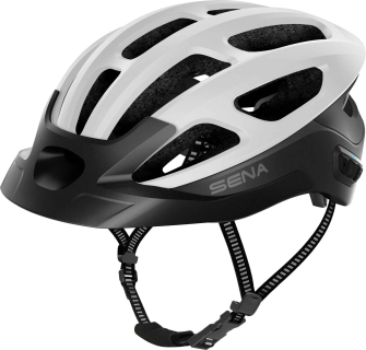 R1 EVO Smart Cycling Helm - Matt White (L)