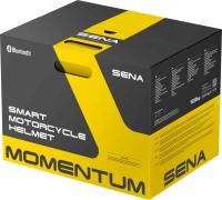 MOMENTUM LITE - Smart Motorrad-Integralhelm (ECE) - weiss glänzend (L)