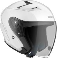 OUTSTAR - Smart Motorrad-Jethelm (ECE) - weiss glänzend (L)