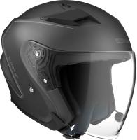OUTSTAR - Smart Motorrad-Jethelm (ECE) - schwarz matt (L)