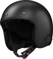 SAVAGE - Smart Motorrad-Jethelm (ECE) - schwarz matt (L)